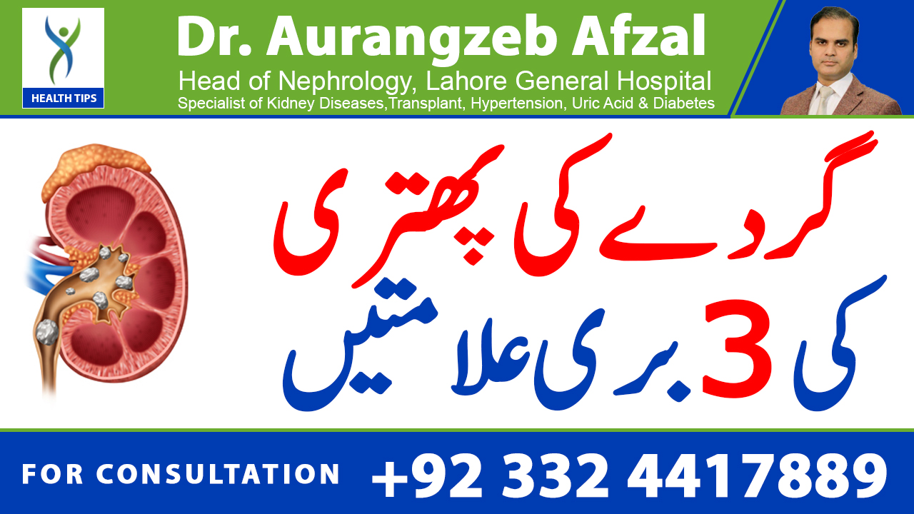3 big signs of kidney Stones ( Urdu/Hindi)
