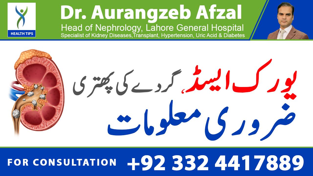 Uric acid kidney stones, must know information! (Urdu/Hindi)