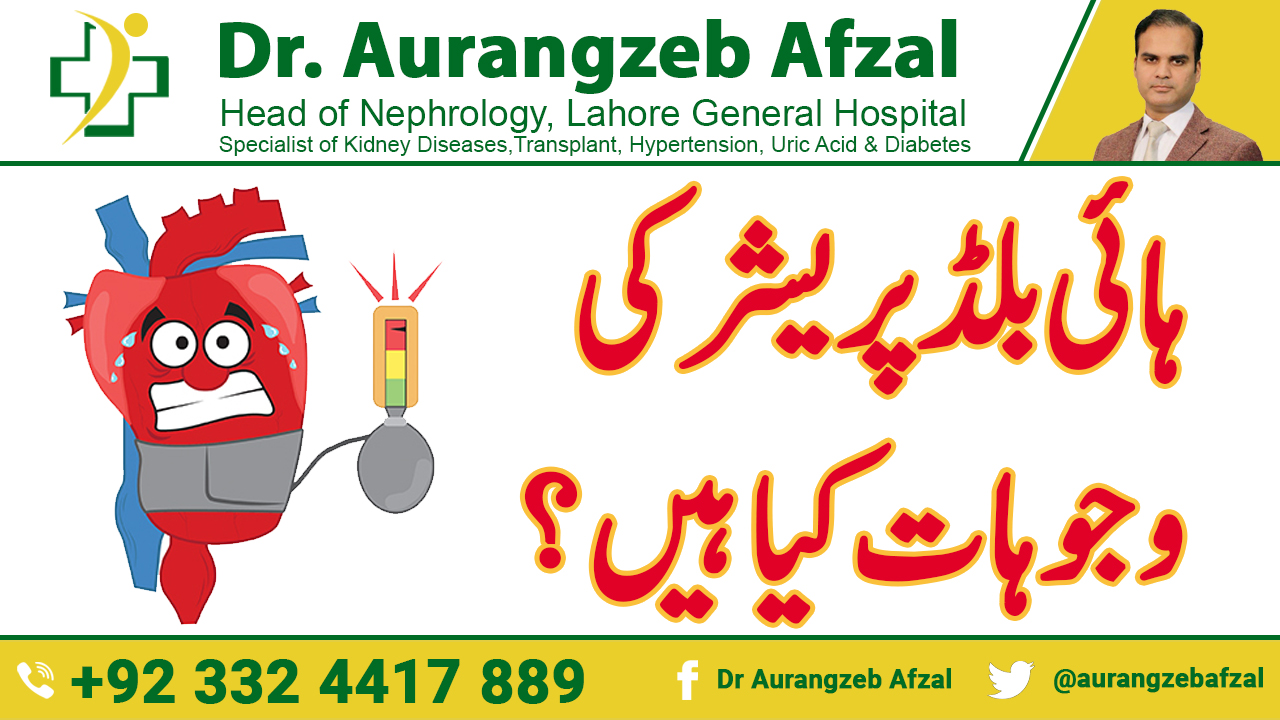 What are the causes of High Blood Pressure(Hypertension) in Urdu/Hindi